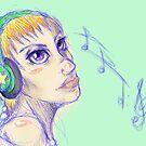 Headphone Girl by AmandaBush