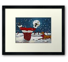 No More Cookies for Santa Framed Print