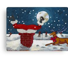 No More Cookies for Santa Canvas Print