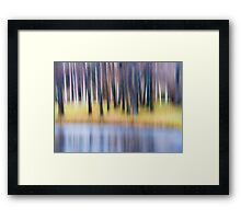 First Frosts Framed Print