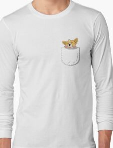 Pocket Corgi Pup Long Sleeve T-Shirt