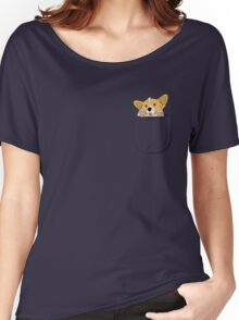 Pocket Corgi Pup Women's Relaxed Fit T-Shirt