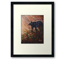 Autumn Rays-Black Bear Framed Print