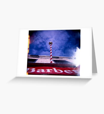 The Great Barber Pole In The Sky Greeting Card