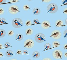 Seamless pattern of birds by sailorlun