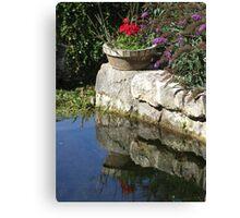Garden Reflection Canvas Print