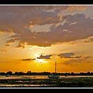 Sunset over Emsworth by Gordon Holmes