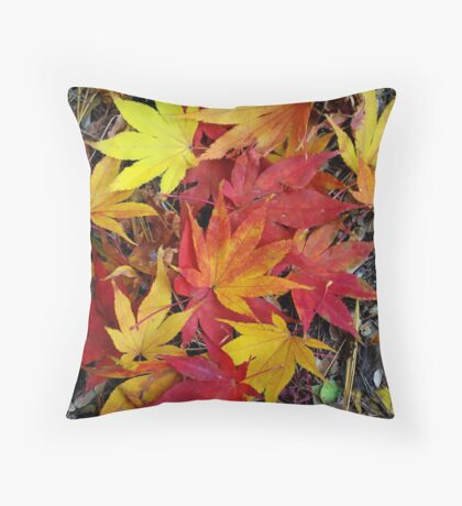 Leaves of Fall Throw Pillow