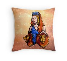 Cybele - Nature Goddess, with Lions Throw Pillow