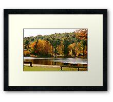 Crystal Lake in the Fall Framed Print