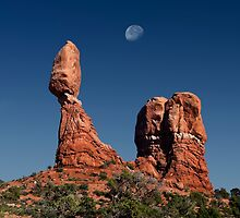 Moonrise Over Balanced Rock .2 by Alex Preiss