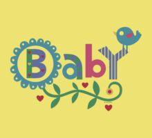 Baby and Bird - on lights Baby Tee