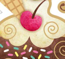 Scrumptious Cupcake Sticker