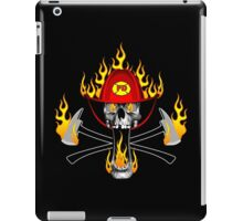 Flaming Fireman Skull and Axes iPad Case/Skin