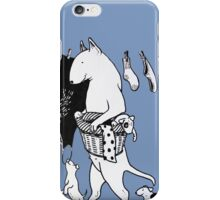 Bull Terrier Laundry iPhone Case/Skin