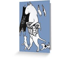 Bull Terrier Laundry Greeting Card
