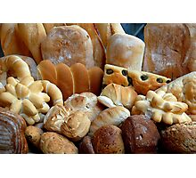 The smell of freshly baked bread Photographic Print