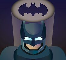 Vector helmet of batman by TIERRAdesigner
