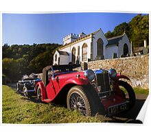 Exmoor: MG's at Selworthy Church Poster