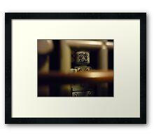 Zombie in a Cell Framed Print