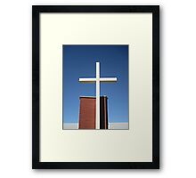 Religious cross Framed Print