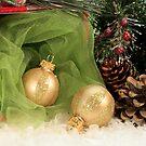 Christmas Gold Ornaments by Sheryl Kasper