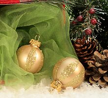 Christmas Gold Ornaments by Sheryl Kasper