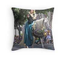 The Pa'u Rider Queen Throw Pillow