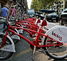 Cycles for hire Baraclona  by Elaine123