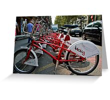 Cycles for hire Baraclona  Greeting Card