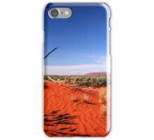 Red Desert, Distant Uluru  iPhone Case/Skin
