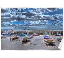 Bridlington at low tide 2 Poster