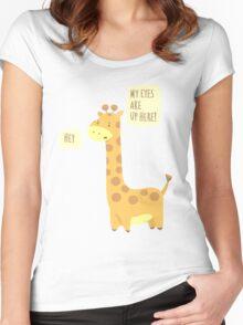 Giraffe Problems! Women's Fitted Scoop T-Shirt
