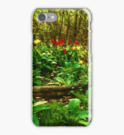 Green, Yellow and Red - Tulip Forest Impressions  iPhone Case/Skin