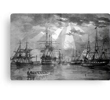 Civil War Ships Canvas Print