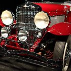 Red Duesenberg by transportation