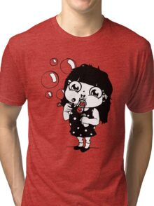girl with soap bubbles Tri-blend T-Shirt