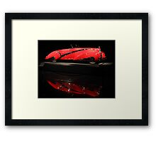 Red Cadillac Reflections Framed Print