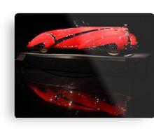 Red Cadillac Reflections Metal Print