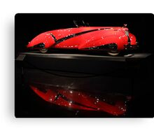 Red Cadillac Reflections Canvas Print