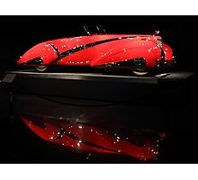 Red Cadillac Reflections Photographic Print