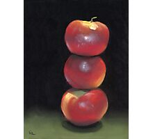 stacked apples Photographic Print