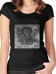 Pushkin - Letters Left Unwritten Women's Fitted Scoop T-Shirt