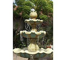 Fountain Drops Photographic Print