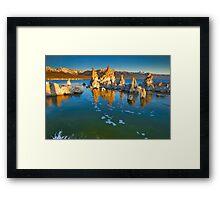 Mono Lake Ca Golden Tufas Wide Angle Framed Print