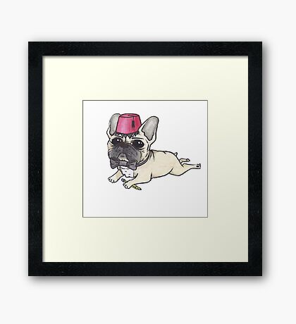 Dr Who French Bulldog- Bow Ties are Cool  Framed Print