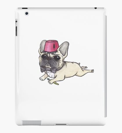 Dr Who French Bulldog- Bow Ties are Cool  iPad Case/Skin