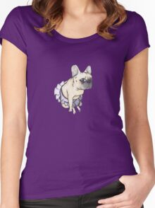 Ballet French Bulldog Women's Fitted Scoop T-Shirt