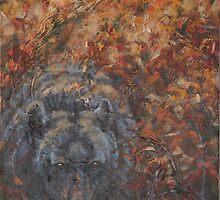 Autumn Bruin - Black Bear by john mcfaul