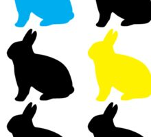 Colorful Bunny T-shirt Sticker